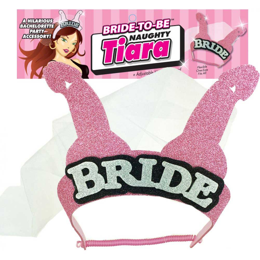 Little Genie Bride-to-Be Naughty Tiara Pink - View #1