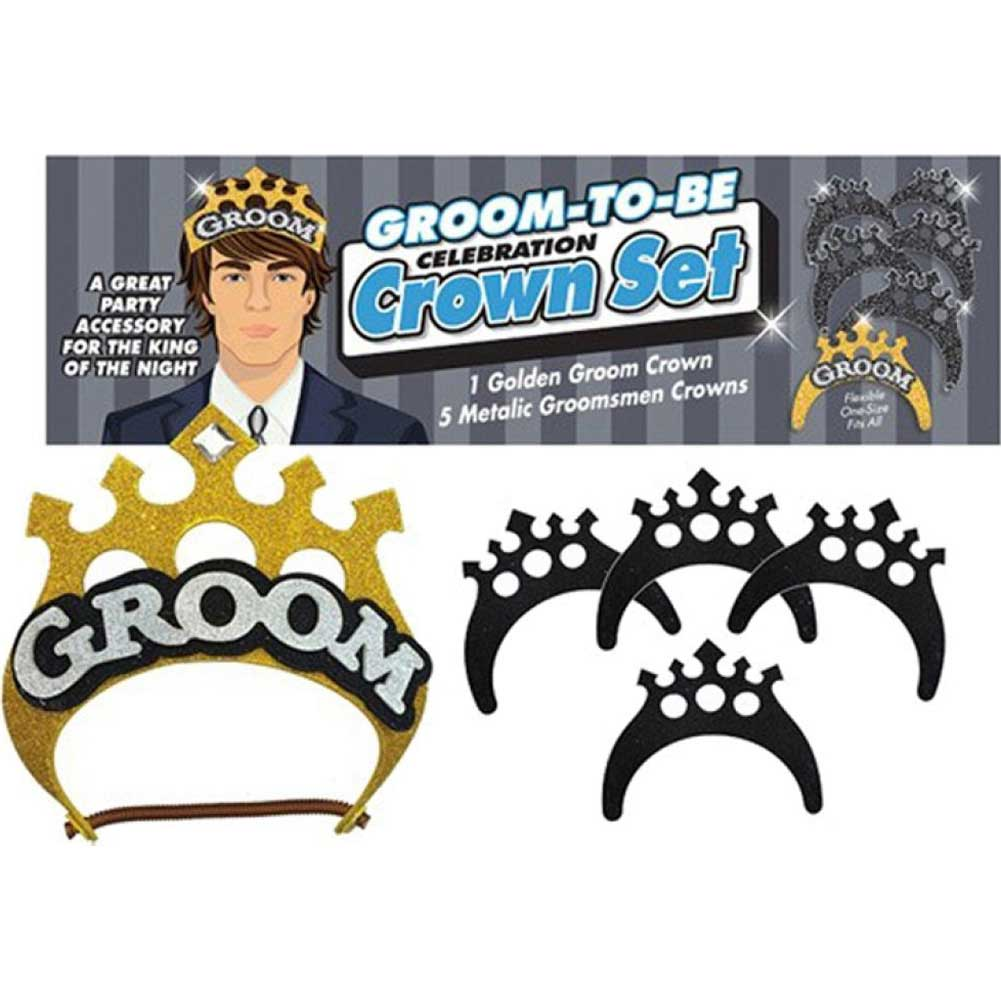 Little Genie Groom to Be Celebration Crown Set - View #1