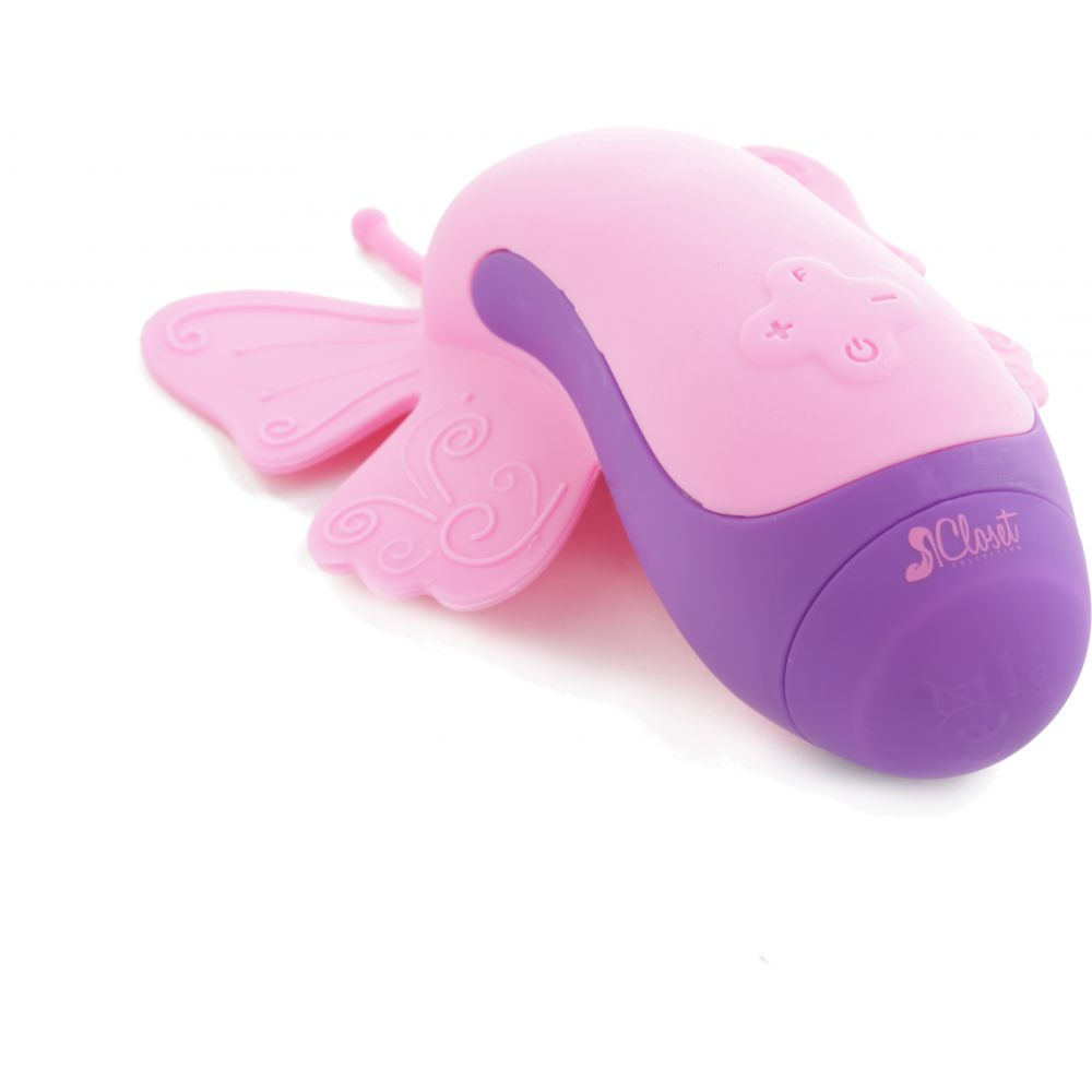 Closet Collection The Harlow Fluterfly Silicone Intimate Massager Pink - View #2