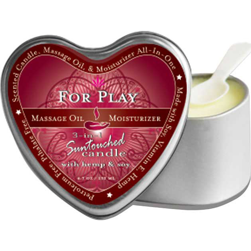Earthly Body Massage Candle for Play 4.7 Oz Heart - View #1