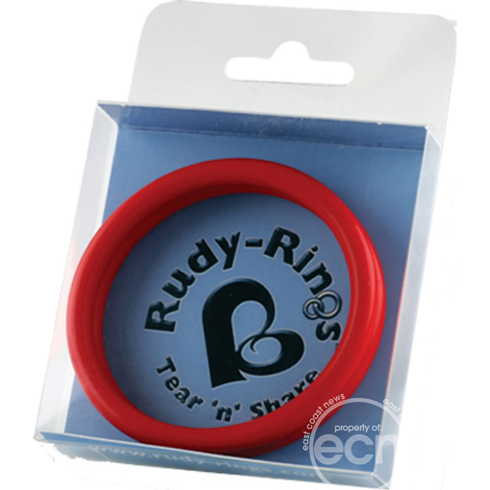 Rocks Off Rudy Rings Tear N Share Cock Rings Red - View #3