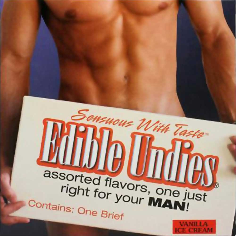 Kingman My Joy Sensuous With Taste Edible Undies Male One Size Fits Most Vanilla Ice Cream - View #1