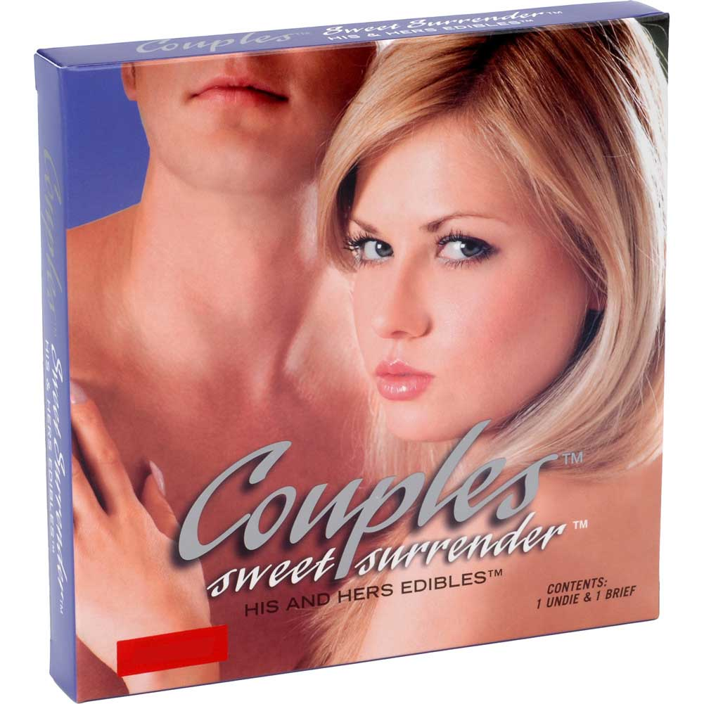 Couples Sweet Surrender His and Hers Edibles 2 Piece Set One Size Fits Most Chocolate - View #1