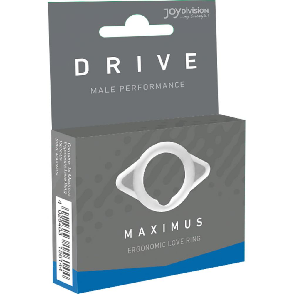 Joy Division Drive Satisfaction to a New Level Maximus Potenz Ring White - View #1