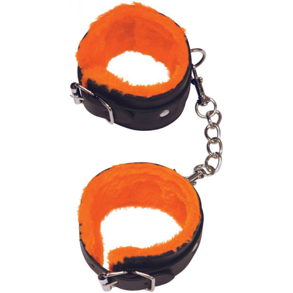 Icon Brands Orange Is the New Black Furry Love Cuffs Wrist Restraints - View #2