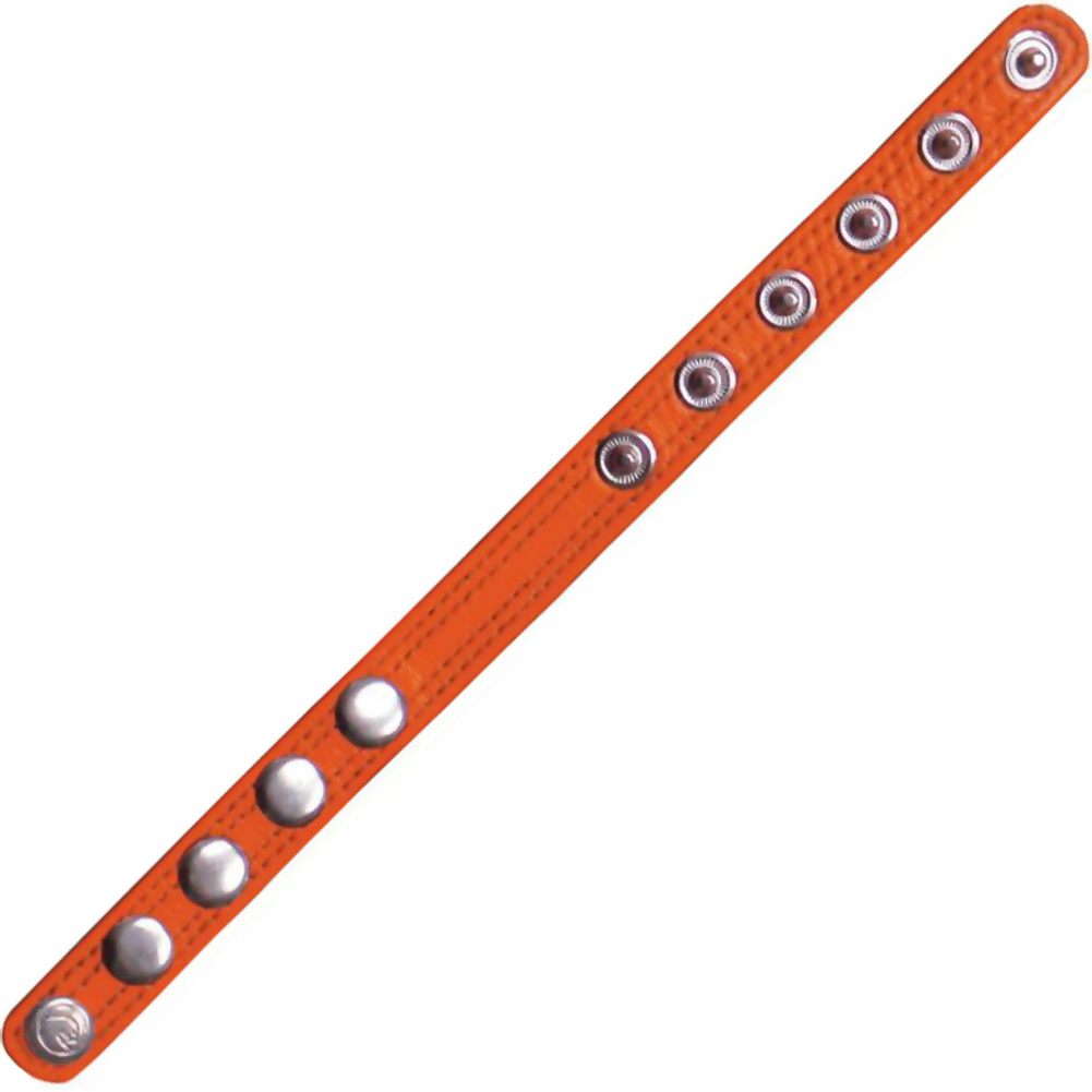 Cocky Boys Adjustable Code Band Cockring Up for Anything Orange - View #2