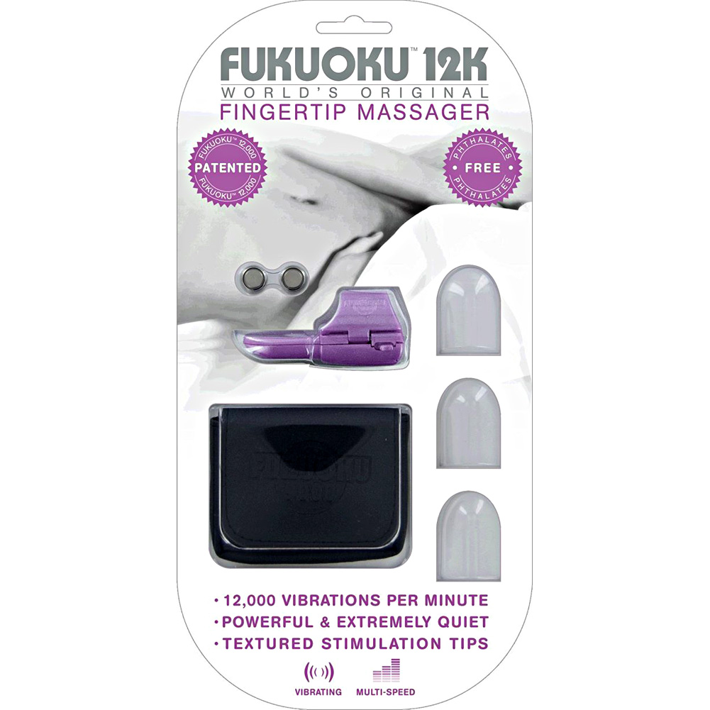 """Deeva Toys Fukuoku 12k Fingertip Massager with Silicone Attachments 3"""" 7.5 Cm - View #4"""
