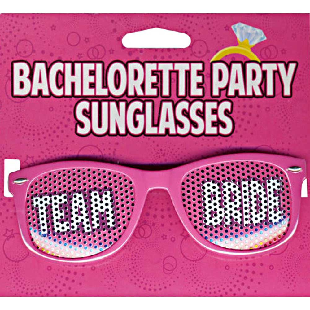 Kalan Bachelorette Party Sunglasses Team Bride Pink - View #1