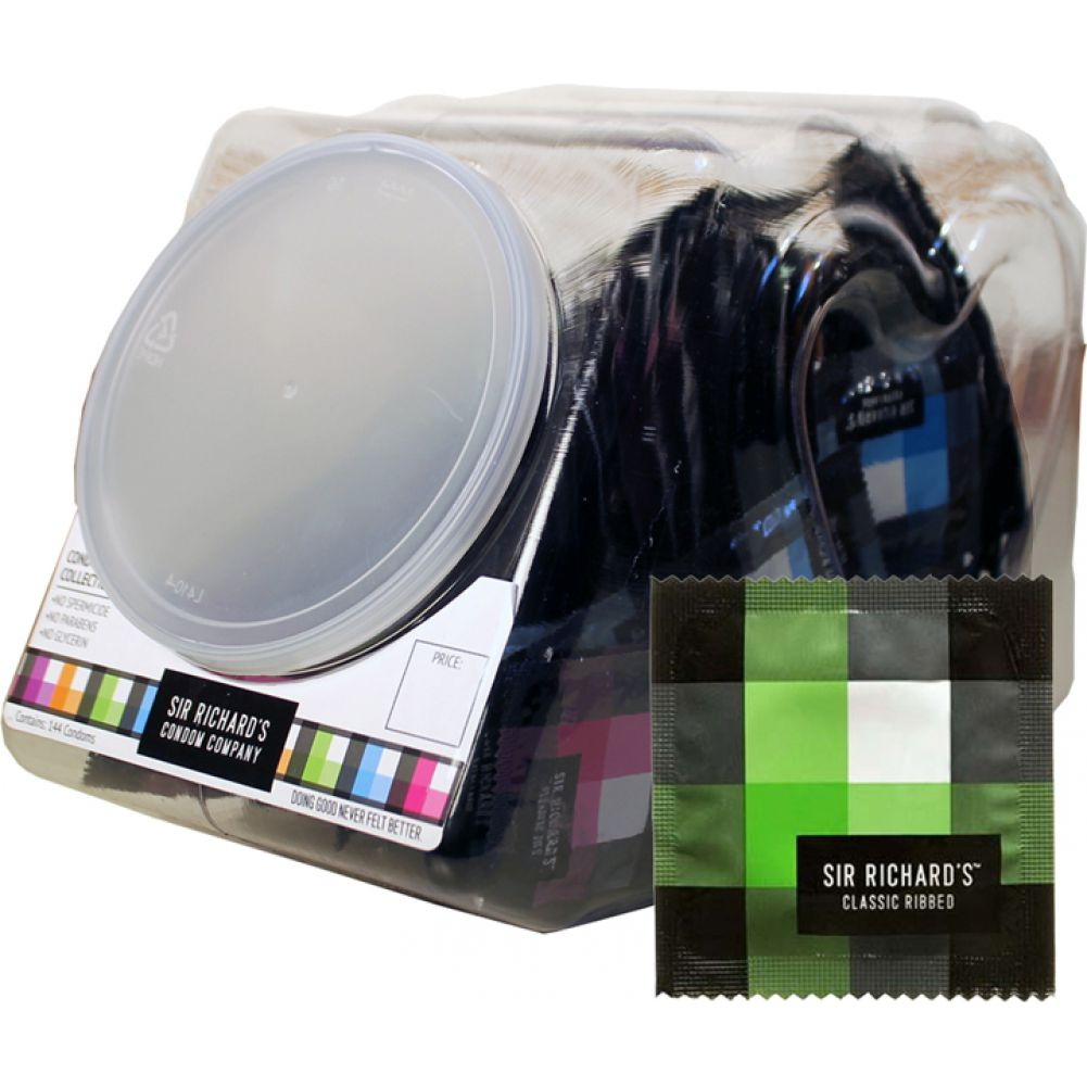 Sir Richards Classic Ribbed Condoms Display 144 Count - View #2