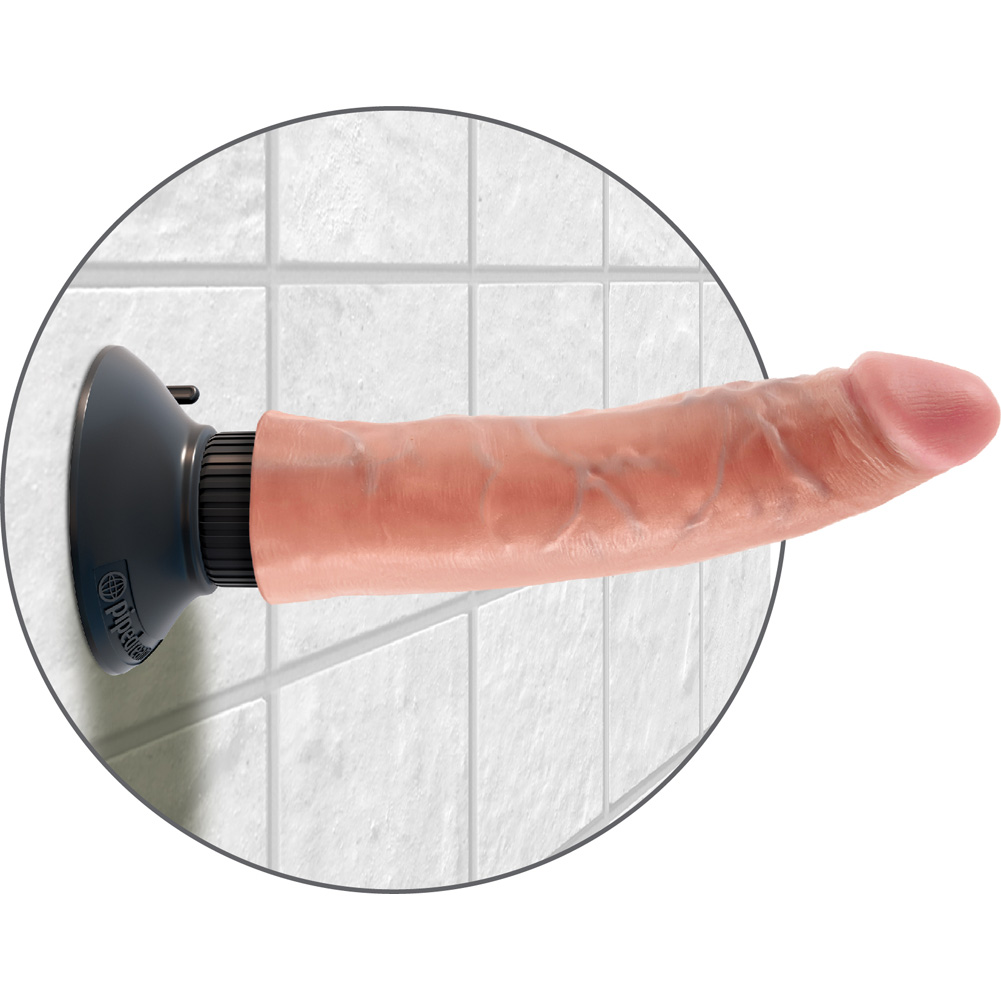 "King Cock 7"" Cock Flesh Vibrating - View #4"