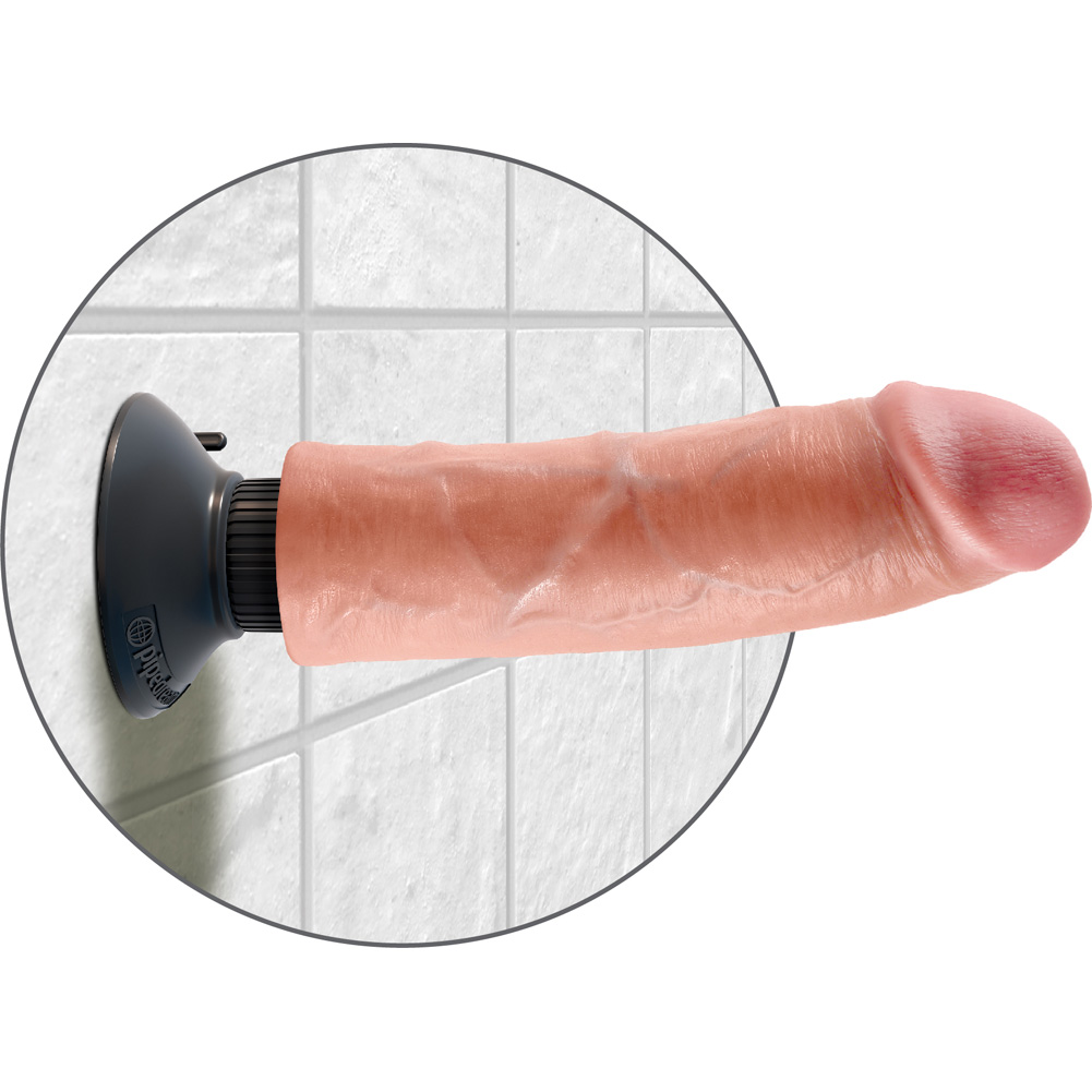 "King Cock 8"" Cock Flesh Vibrating - View #4"