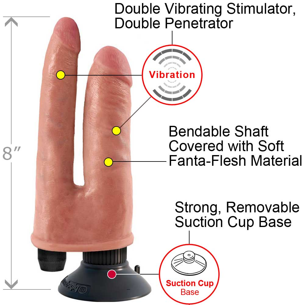 King Cock Double Penetrator Flesh Double Vibrating - View #1