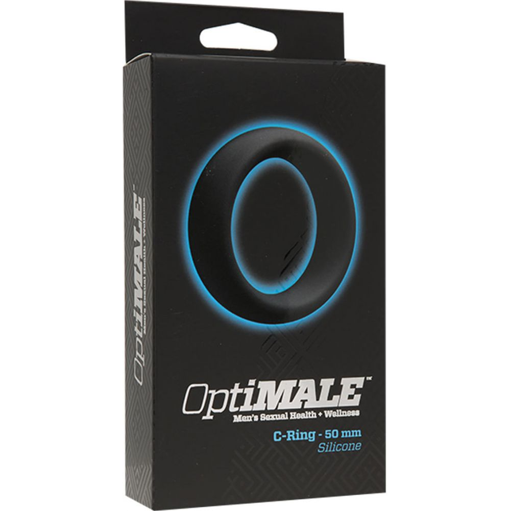 "Doc Johnson OptiMale 50 Mm Cock Ring 2"" Black - View #1"