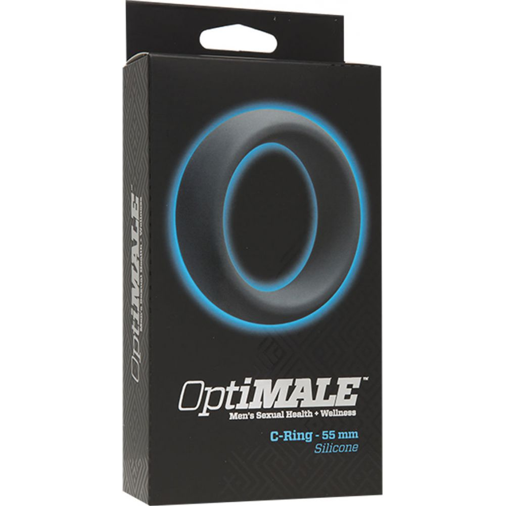 """Doc Johnson OptiMale 55 Mm Silicone Cock Ring 2.25"""" Slate - View #1"""