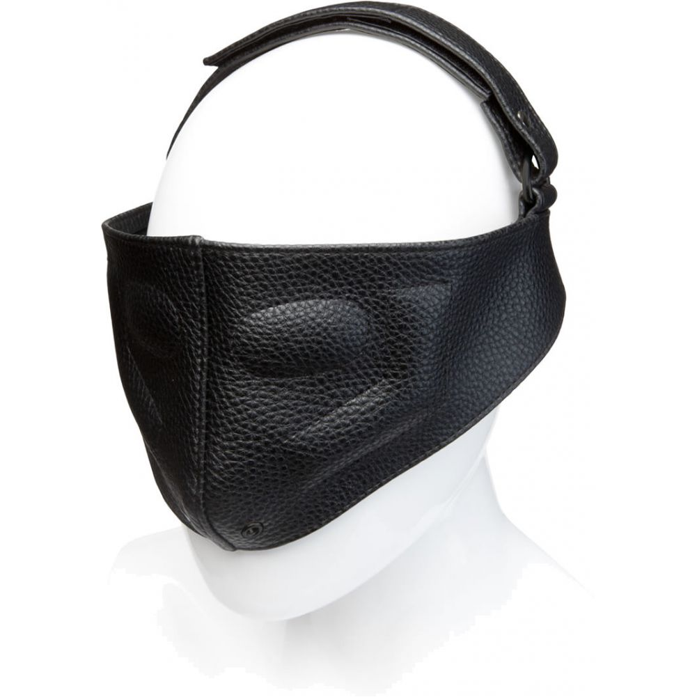 Kink by Doc Johnson Leather Blinding Mask One Size Black - View #1