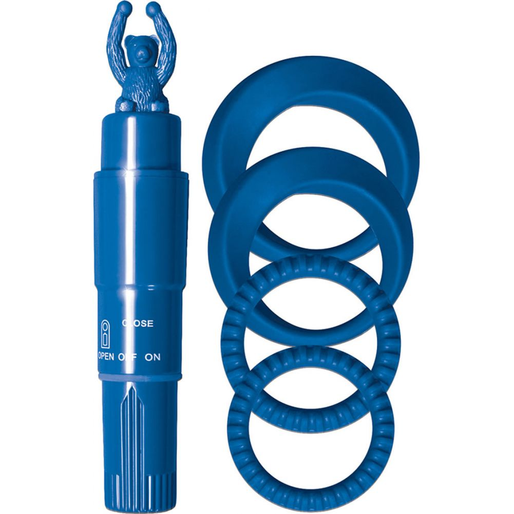 Nasstoys Cockrings with Teddy Bear Tickler Kit Blue - View #2