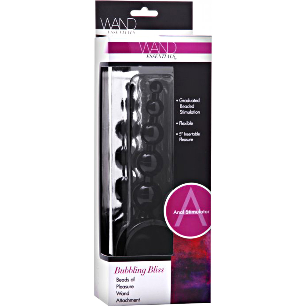 "XR Brands Wand Essentials Bubbling Bliss Beads Wand Attachment 5"" Black - View #4"