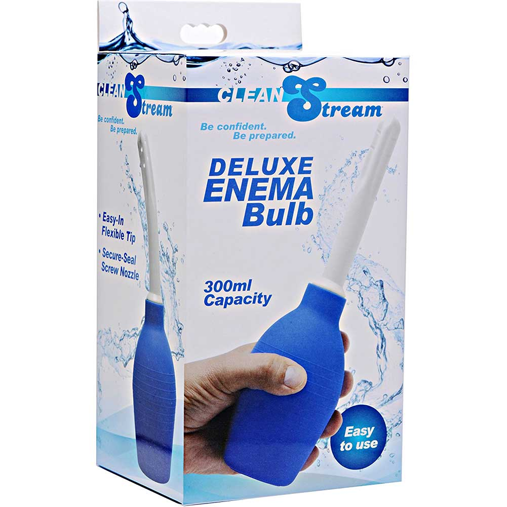 XR Brands Clean Stream Deluxe Enema Bulb Blue - View #3
