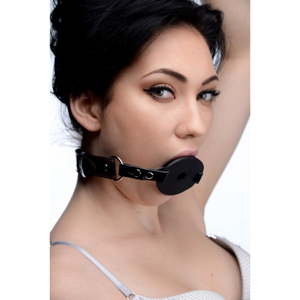 XR Brands Master Series Devour Locking Feeding Gag Black - View #1