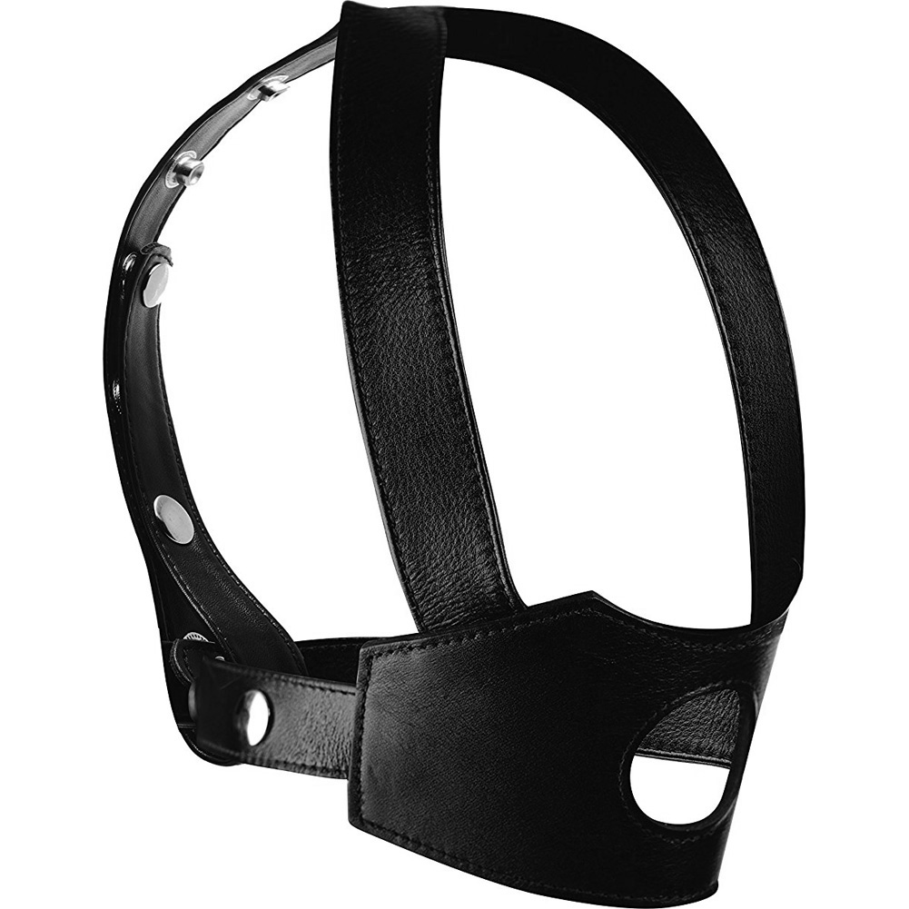 XR Brands Master Series Face Fuk II Dildo Face Harness Black - View #2