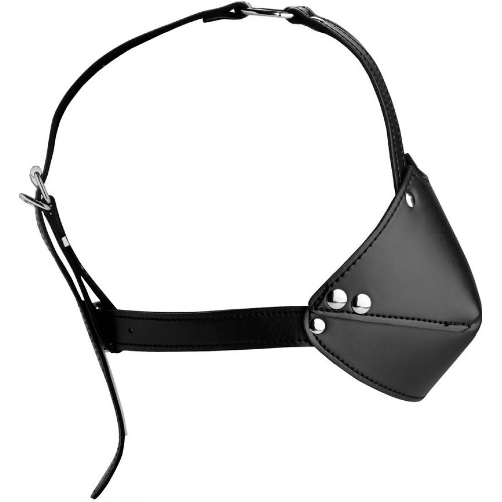 XR Brands Strict Mouth Harness with Ball Gag Black - View #1