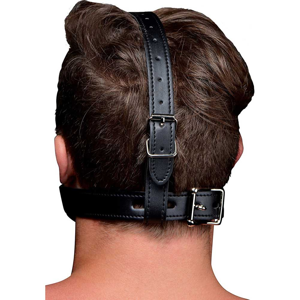 XR Brands Strict Open Mouth Head Harness Black - View #3