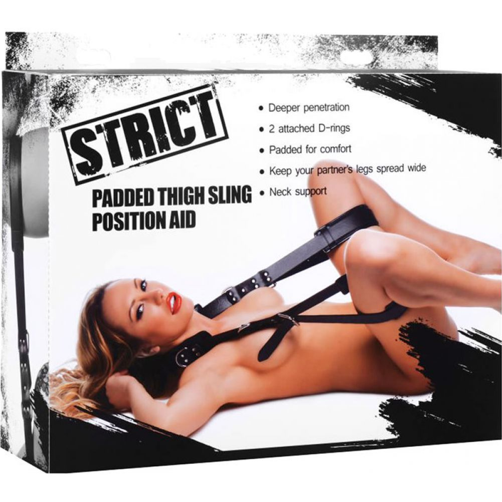 XR Brands Strict Padded Thigh Sling Position Aid Black - View #4