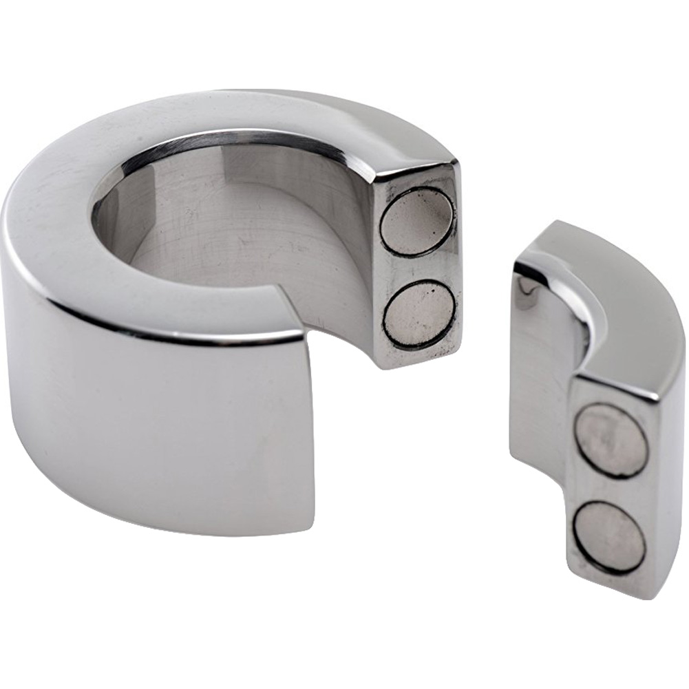 XR Brands Master Series 30 MM Magnetic Stainless Steel Ball Stretcher Silver - View #1