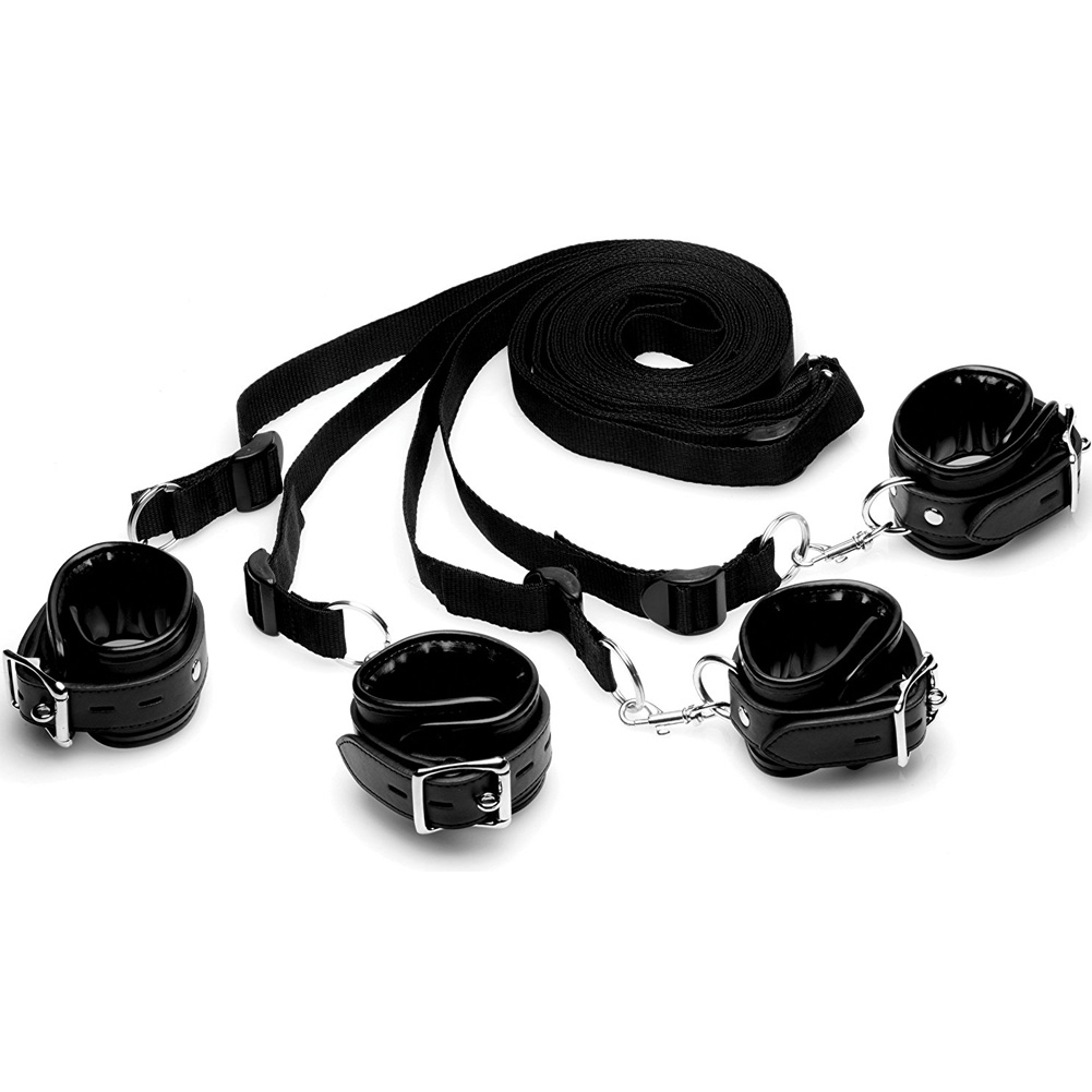 XR Brands Strict Bed Restraint Kit Black - View #2