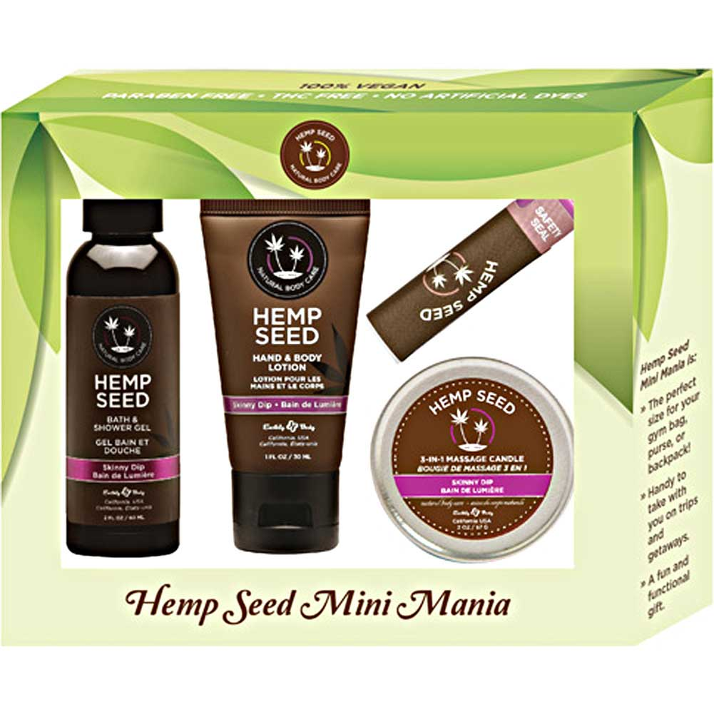 Earthly Body Hemp Seed Mini Mania Travel Set Skinny Dip - View #1