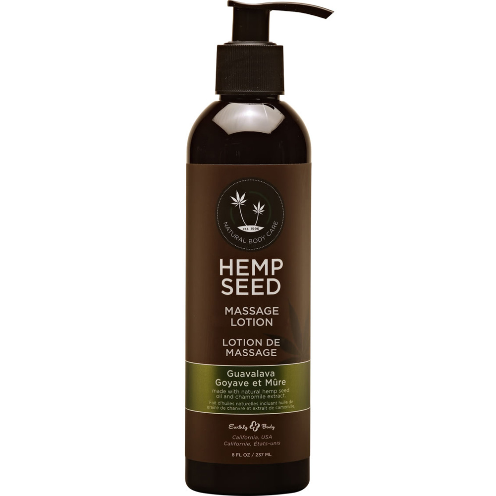 Earthly Body Hemp Seed Massage Lotion 8 Fl. Oz 237 mL Guavalava - View #1