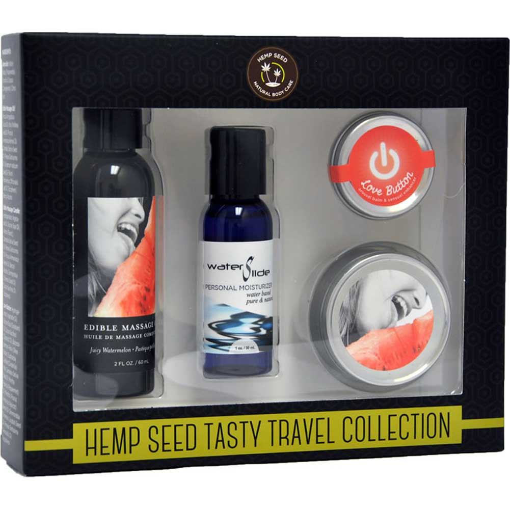 Earthly Body Hemp Seed Tasty Travel Collection Watermelon - View #1