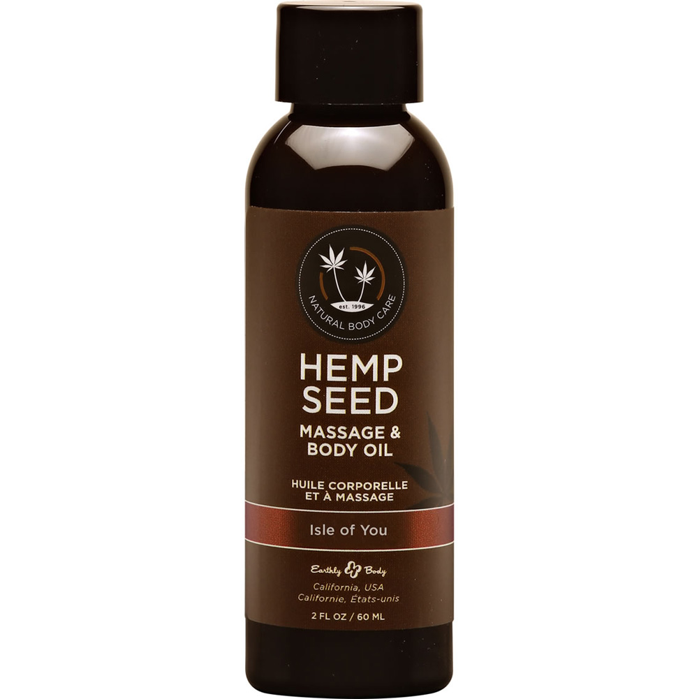 Earthly Body Hemp Seed Massage and Body Oil 8 Fl.Oz 237 mL Isle of You - View #1