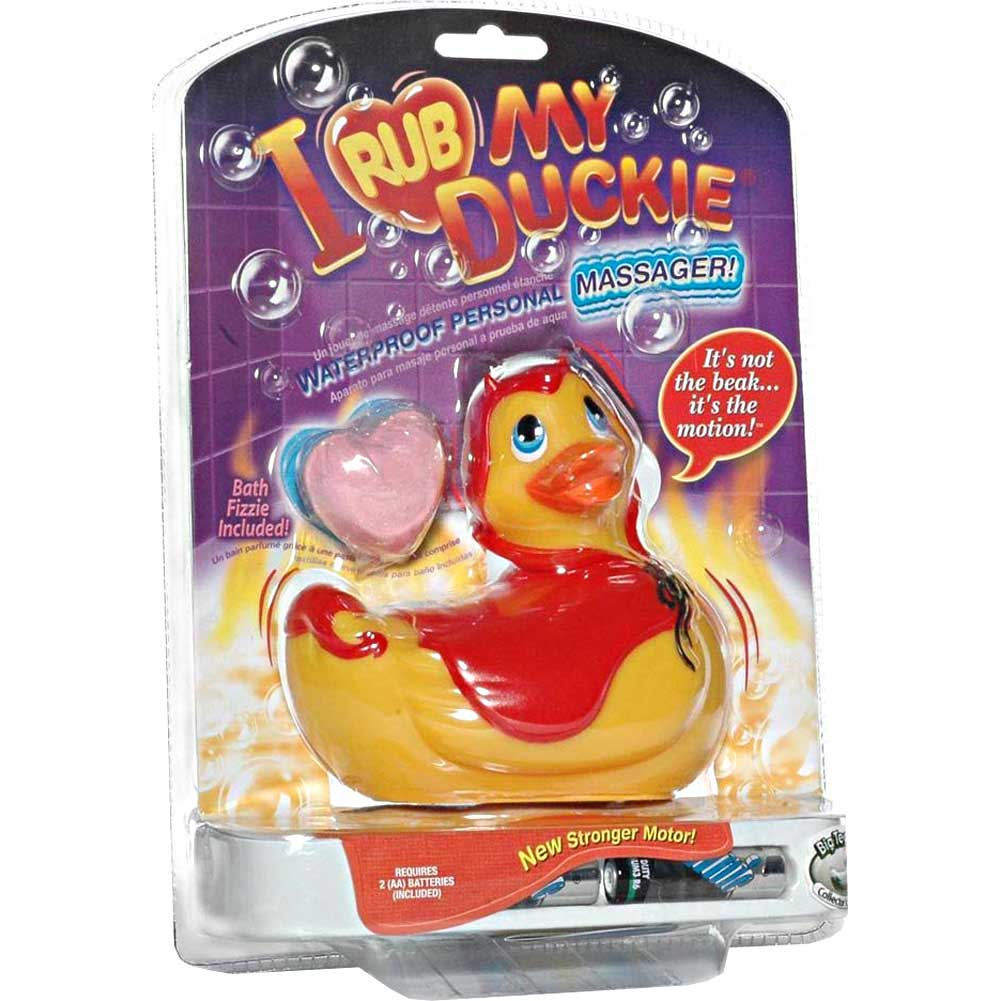 I Rub My Duckie Little Red Devil Discreet Personal Vibrator - View #1