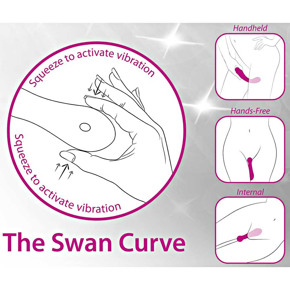 BMS Factory Swan Curve Squeeze Control Intimate Vibrator Hot Pink - View #1