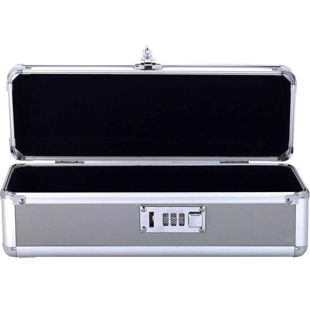 "BMS Factory Lockable Vibrator Case 12"" Silver - View #1"