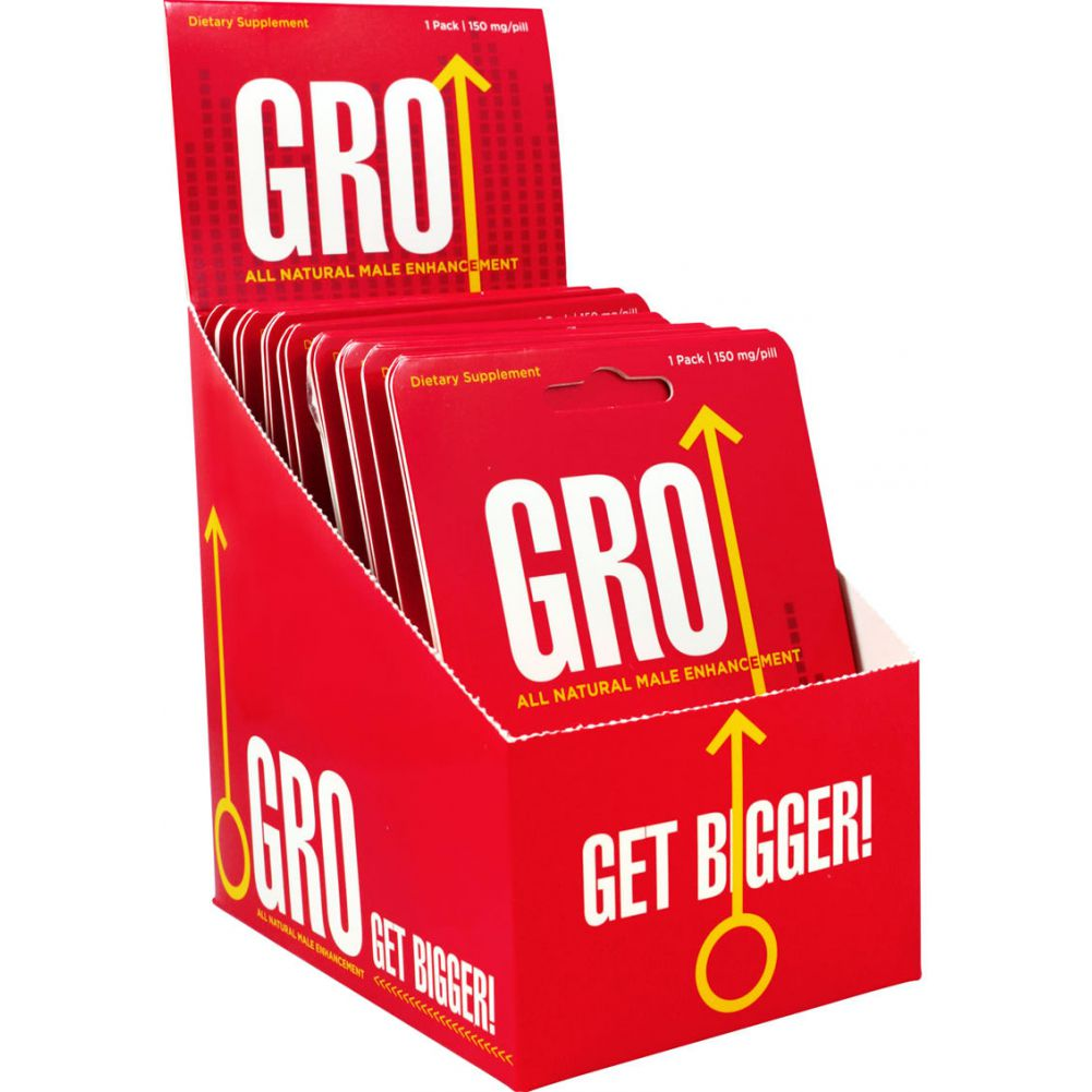 Gro All Natural Male Enhancement Pill 24 Single Packs Per Counter Display - View #2