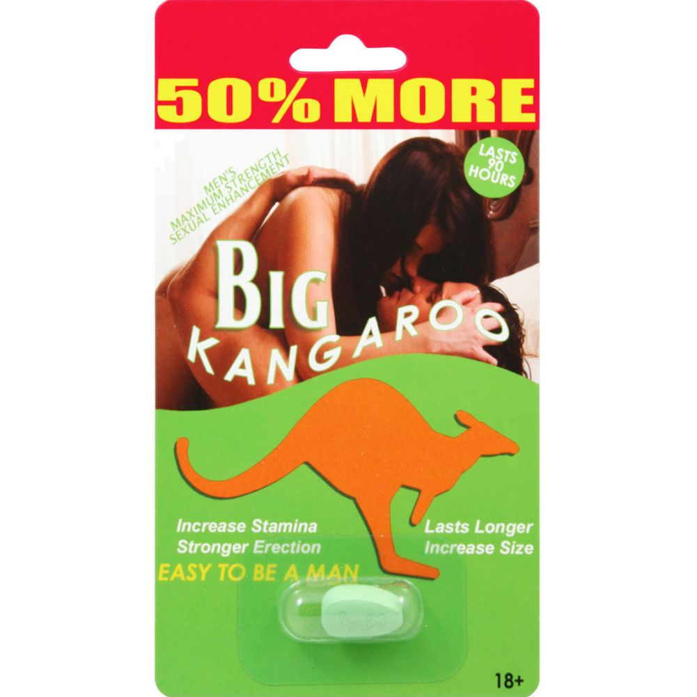 Big Kangaroo Enhancement Pill 1 Each Per Pack 30 Packs Per Counter Display - View #2