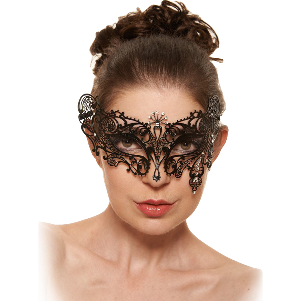 Kayso Venetian Masquerade Mask Black/ Crystal Clear - View #1