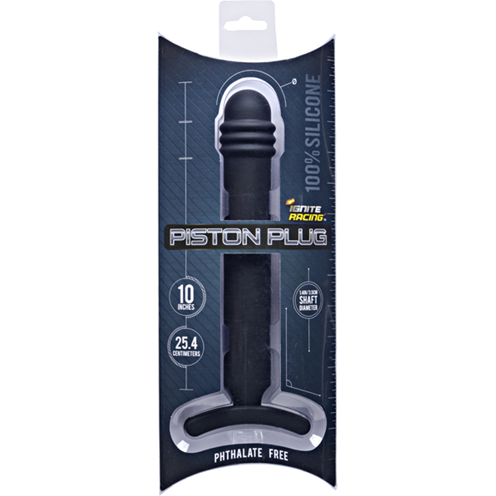 "SI Novelties Ignite Racing Piston Anal Plug 12"" Black - View #1"