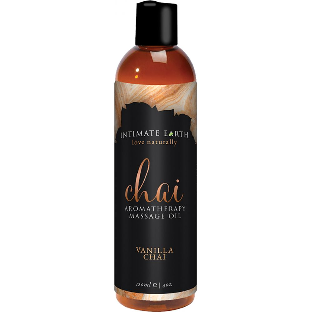 Intimate Earth Aromatherapy Massage Oil 4 Fl.Oz 120 mL Vanilla Chai - View #1