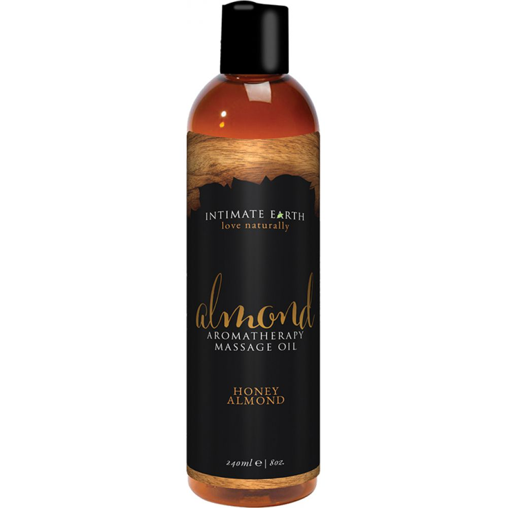 Intimate Earth Aromatherapy Massage Oil 8 Fl.Oz 240 mL Honey Almond - View #1