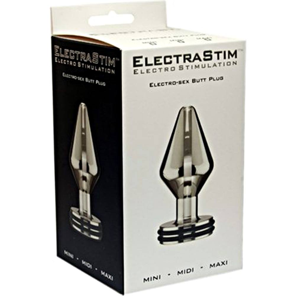 "ElectraStim Electro Sex Maxi Butt Plug 4"" Silver - View #1"