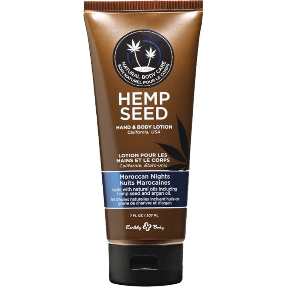 Earthly Body Hemp Seed Hand and Body Lotion 7 Fl.Oz 207 mL Moroccan Nights - View #1