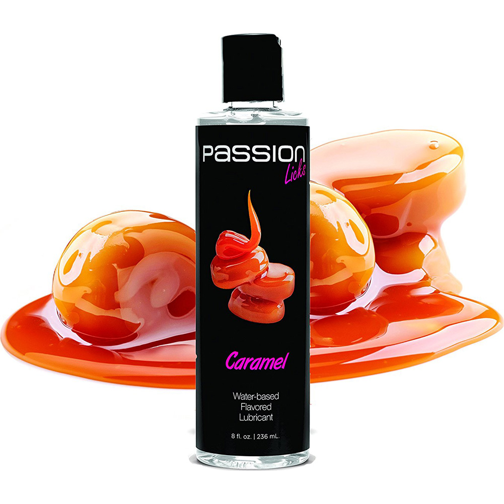 Passion Licks Water Based Flavored Lubricant 8 Fl.Oz 236 mL Caramel - View #1