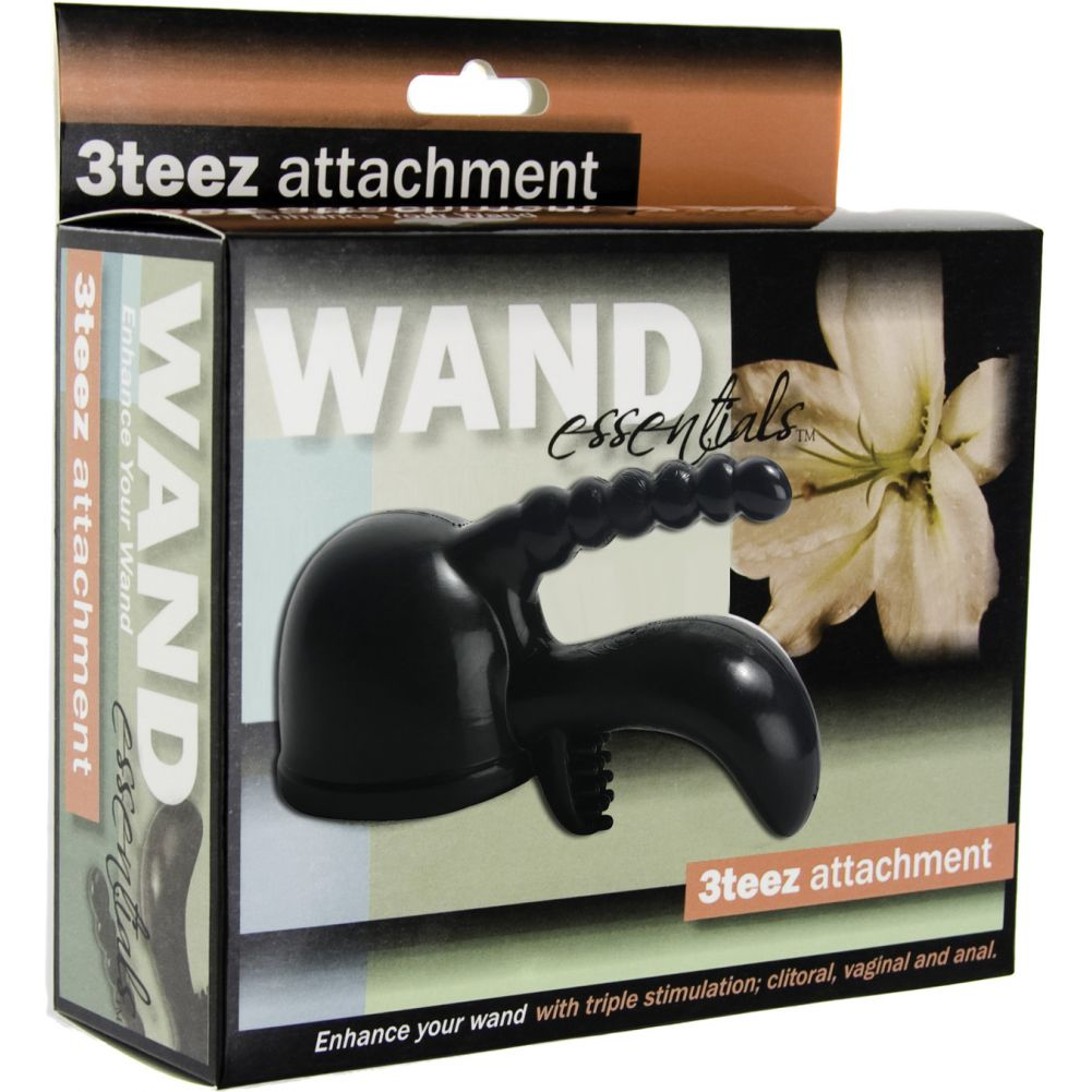 "Wand Essentials 3Teez Attachment 6"" Classic Black - View #3"