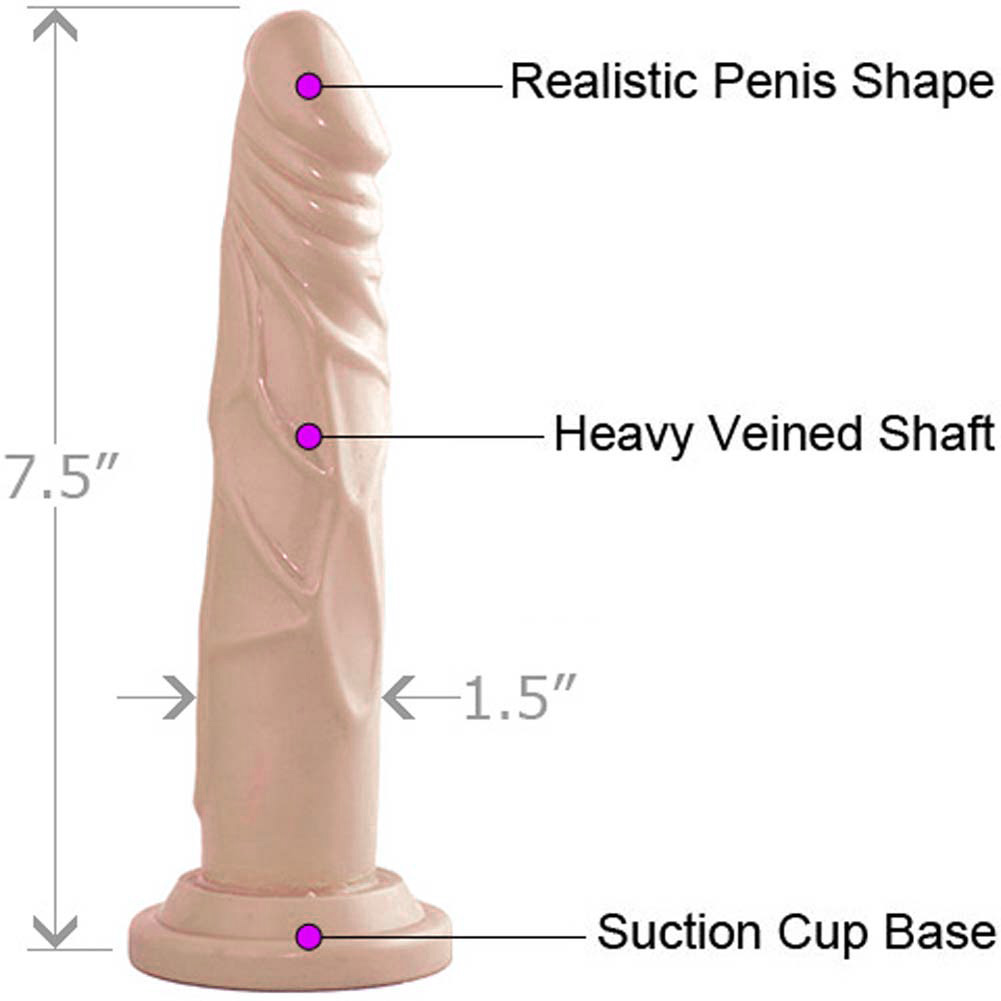 "Blush Novelties Dr. Skin Realistic Cock Basic Dildo with Suction Cup 7.5"" Natural - View #1"