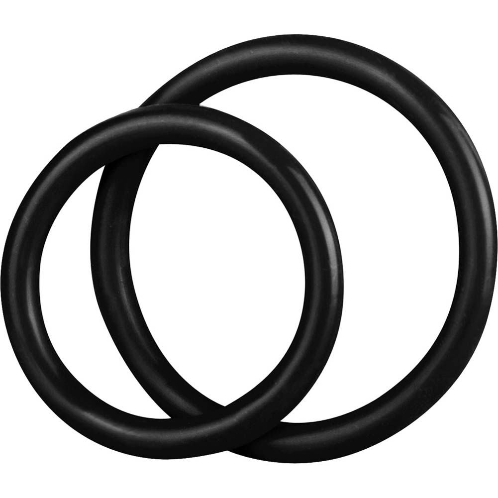 BlueLine C and B Gear Silicone Cock Ring Set Black - View #1