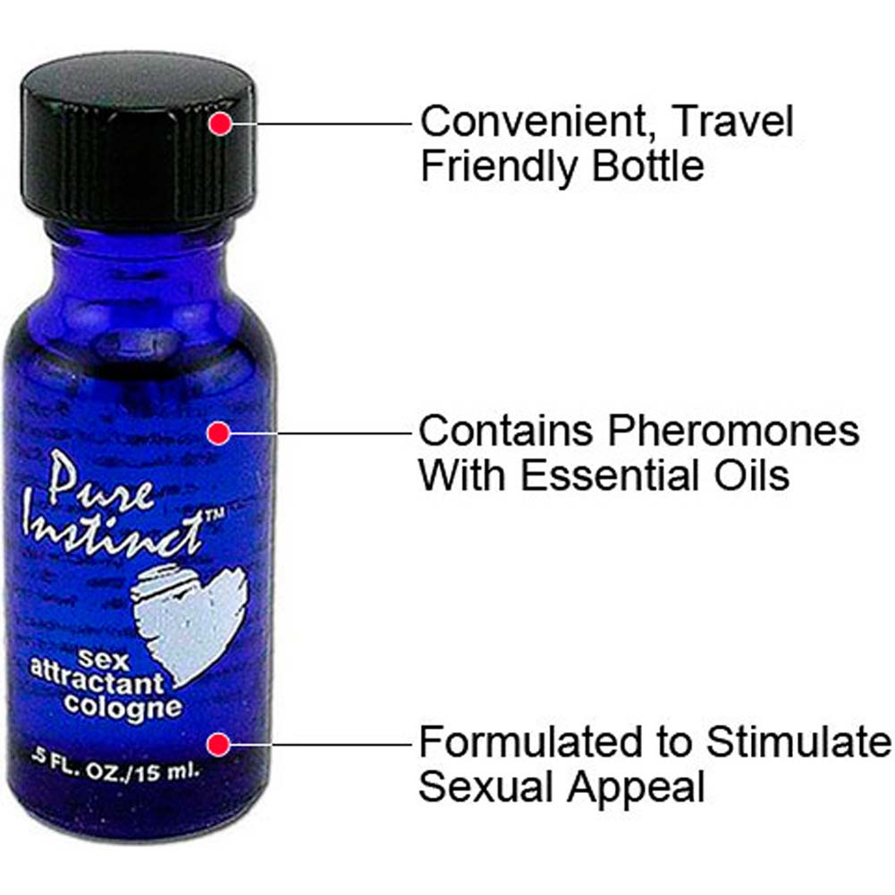 Pure Instinct Sex Attractant Cologne 3 Pack Bottles 0.5 Fl.Oz 15 mL Each - View #1