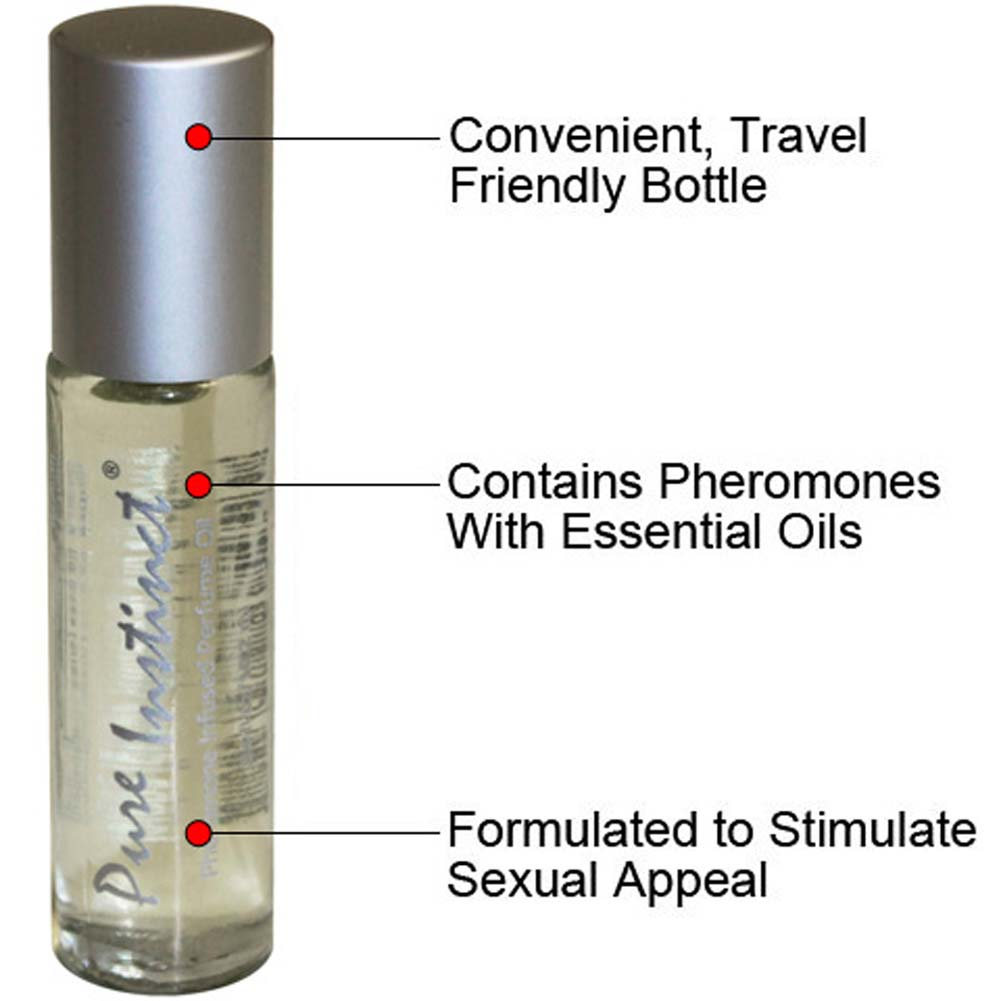 Pure Instinct Roll-On Sex Attractant Cologne and OptiSex Clear Joy Premium Lube 1 Oz - View #3